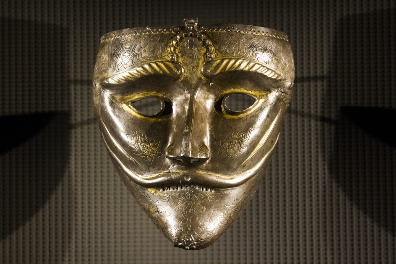 Gold mask exhibited in the Museum Islamic Art Doha