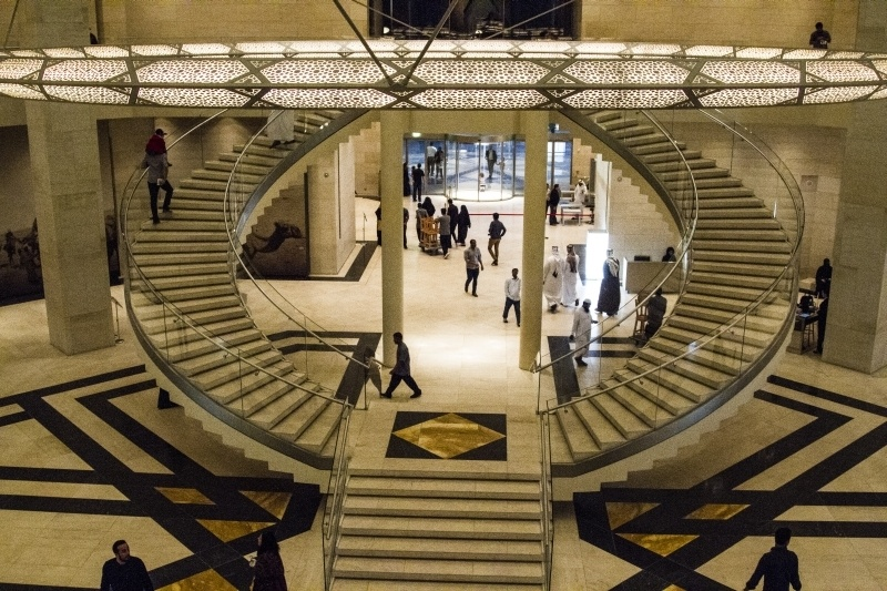 Interior staircase of the Museum Islamic Art Doha