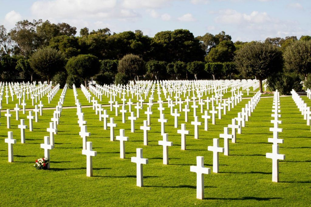 North African American cemetery in Tunis.