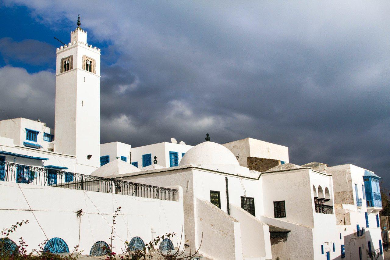 Sidi Bou Said, a white and blue city very close to Tunis.