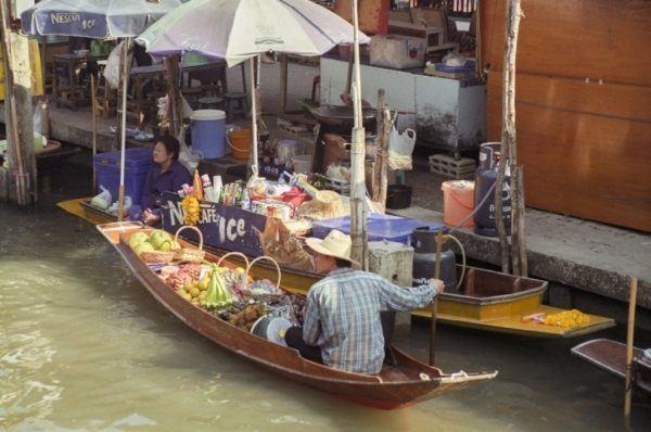 Floating market boat.
