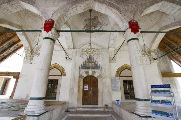 Interior view of Mostar mosque.