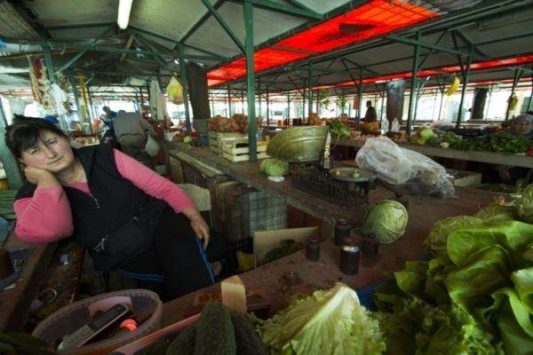 Mostar vegetable market.