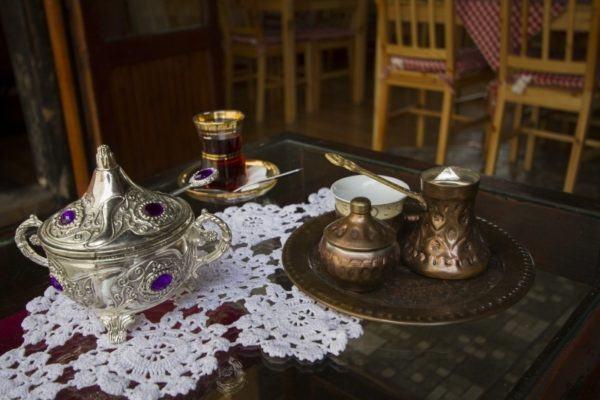 Bosnian tea and coffee service.
