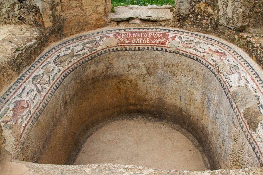 To find a Roman baptismal with the mosaics still intact is really unusual.