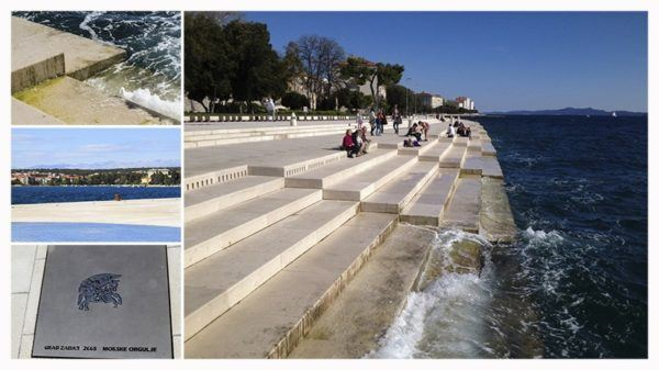 The sea organ in Zadar.