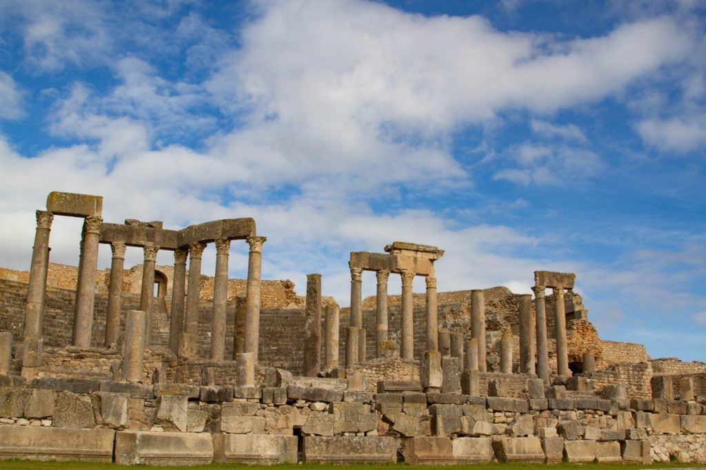 The largest and most extensive Roman Ruins in Tunisia, Dougga was our favorite with its huge columns and amphitheater.
