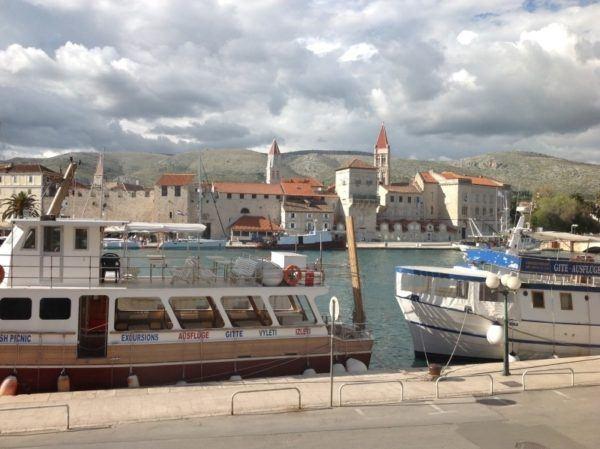 Ancient harbor in Croatia.