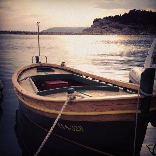 Small Croatian fishing boat.