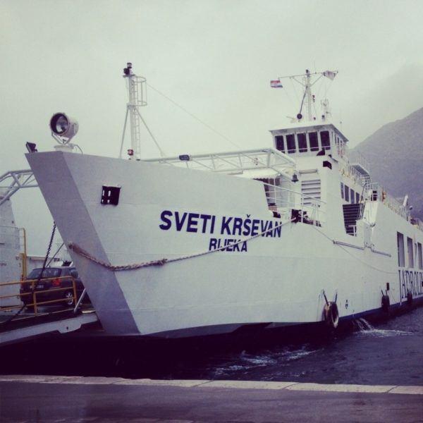 Croatian ferry.
