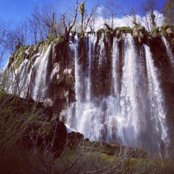 Water fall in Plitvice National Park.