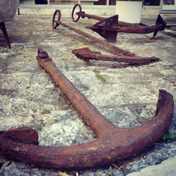 Ancient anchors on display in Zadar.