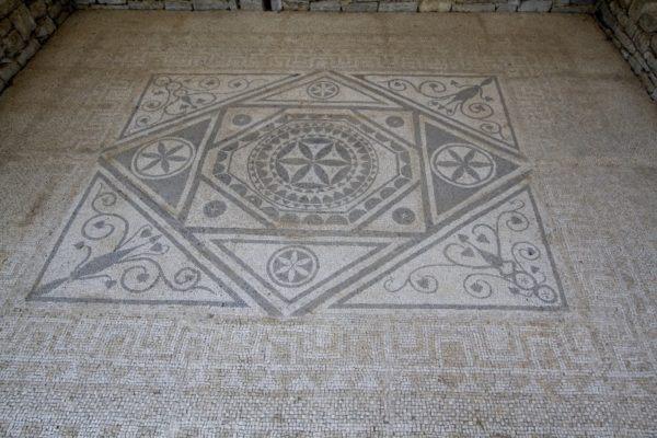 Ancient Roman mosaic in Montenegro.