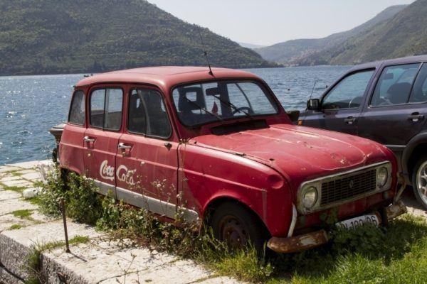 Old coca cola car in Montenegro.