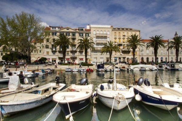Small boat harbor in Split.