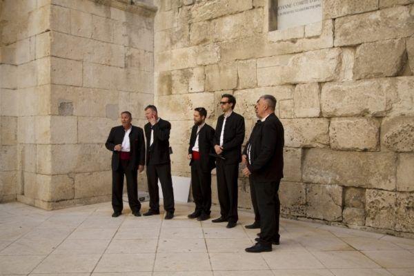 A capella singers in Split.