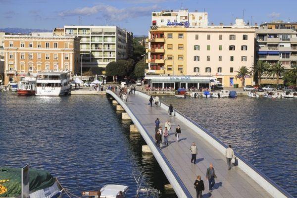 Walking bridge in Zadar.