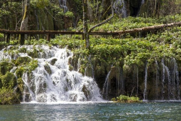 Plitvice Lakes waterfalls.