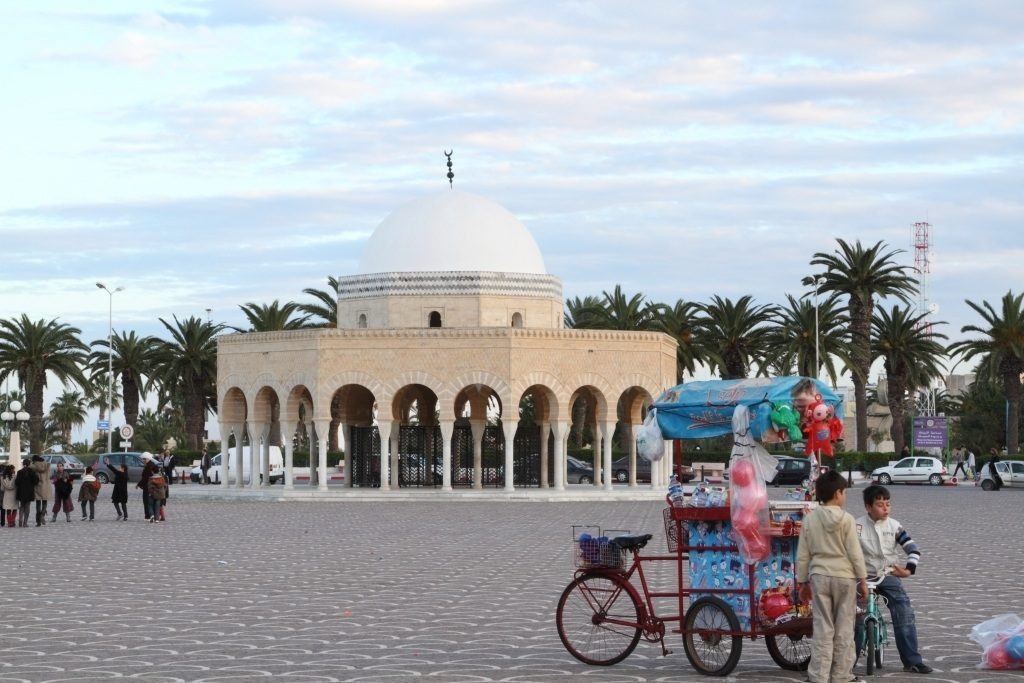 The Marabout in Monastir is the tomb of the first president of Tunisia after they regained their independence.