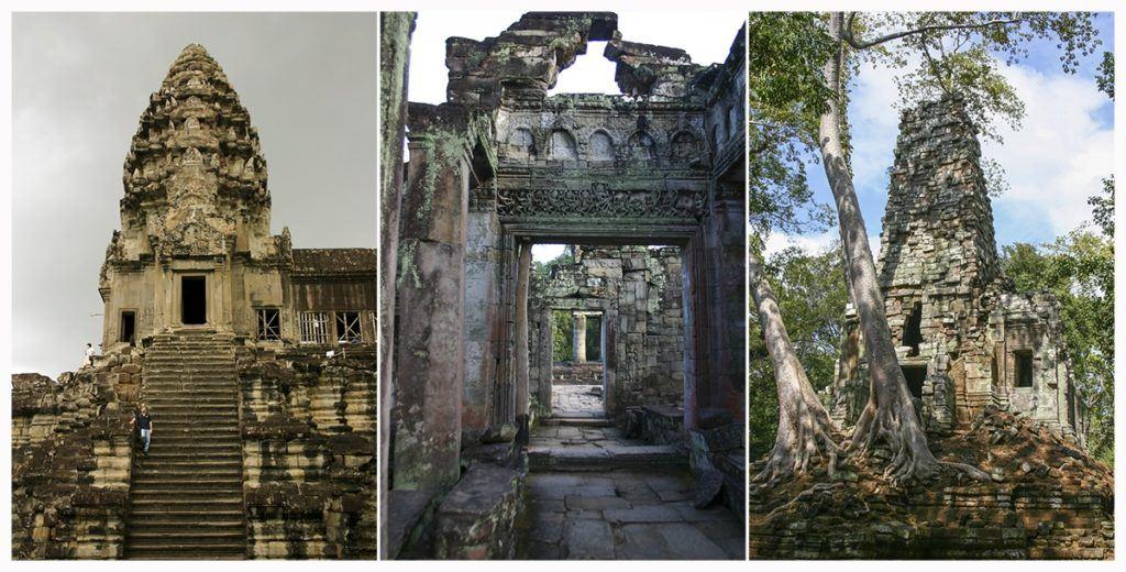 Angkor Wat temple scenes.