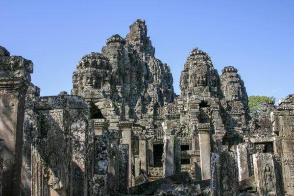 Bayon temple at Angkor Wat, Cambodia.