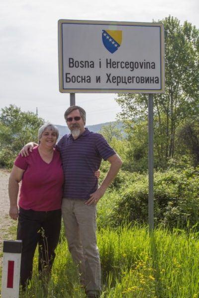 On the border of Bosnia Hercegovina.