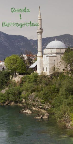 Old stone mosque in Bosnia.