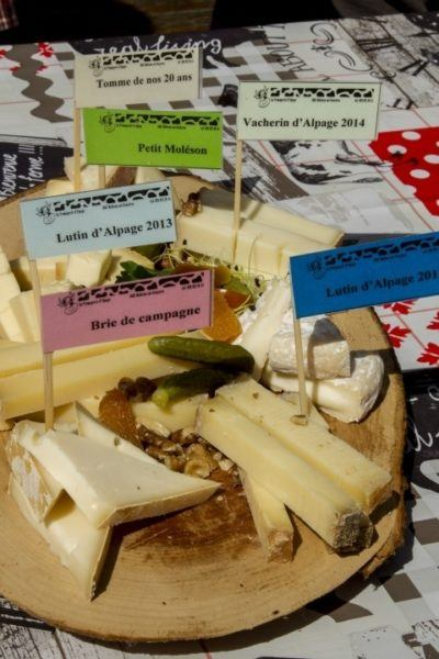 A cheese plate from the mountain cheesemonger.