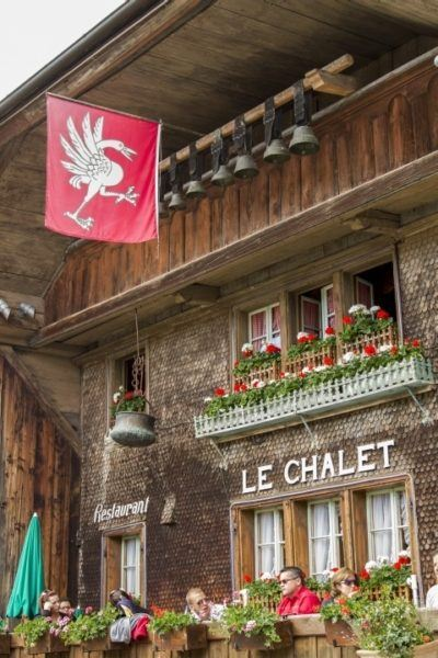 Le Chalet restaurant serves up fresh cream.