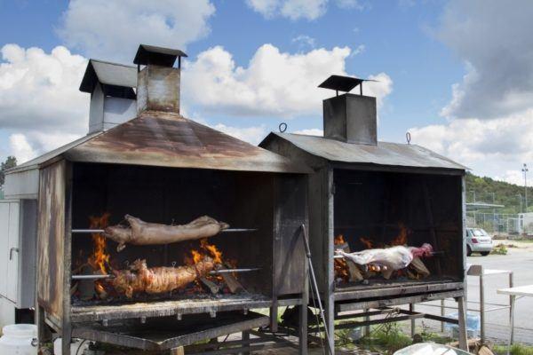 Croatian pig and lamb roast.