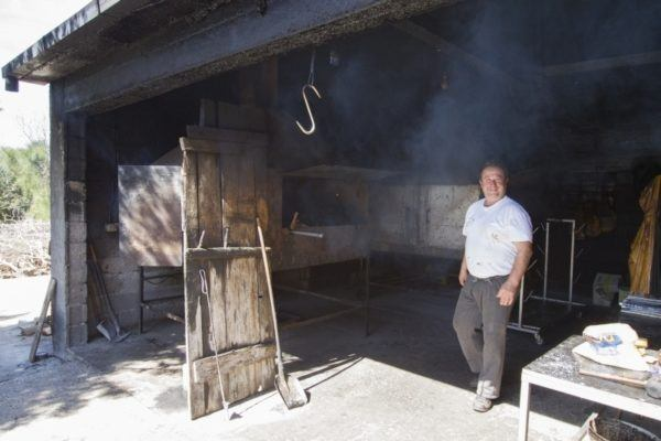 Antonio in his kitchen.