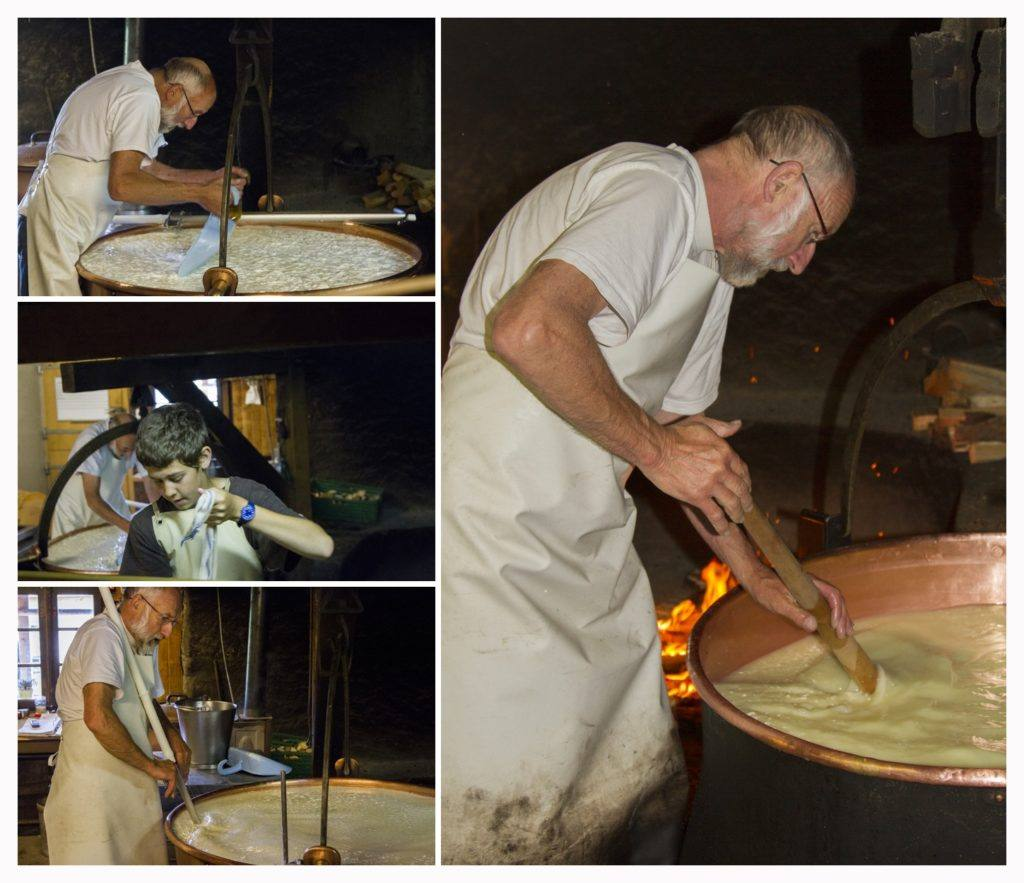 Making cheese the old fashioned way.