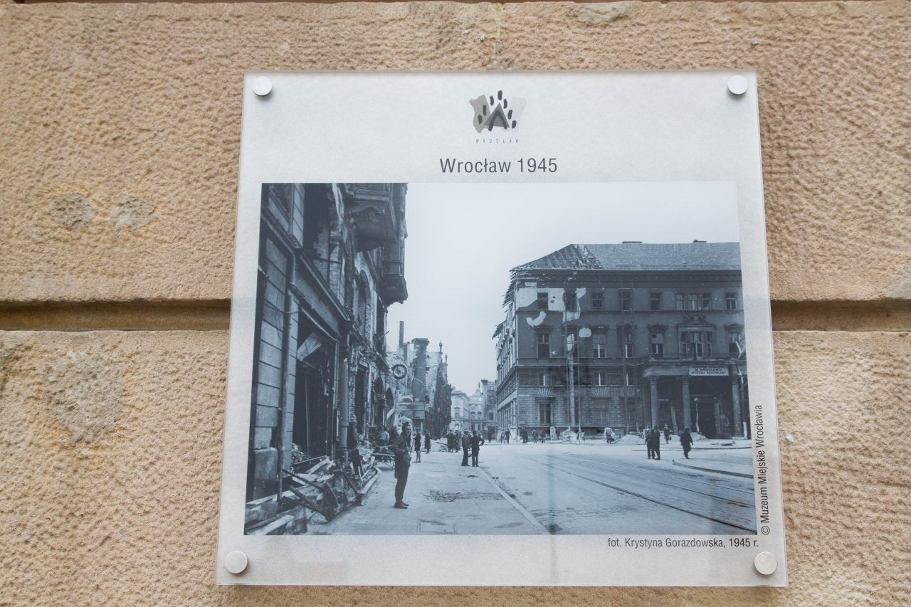 A photo of Wroclaw from 1945.