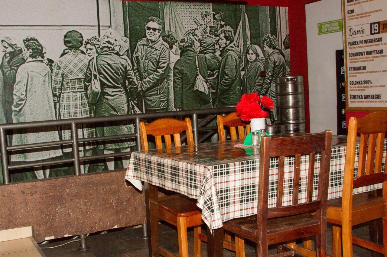 A restaurant interior in Wroclaw.