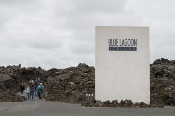 The imposing entrance to Iceland's Blue Lagoon.