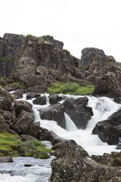 A river that flows between continents can be found at Thingvellir National Park.