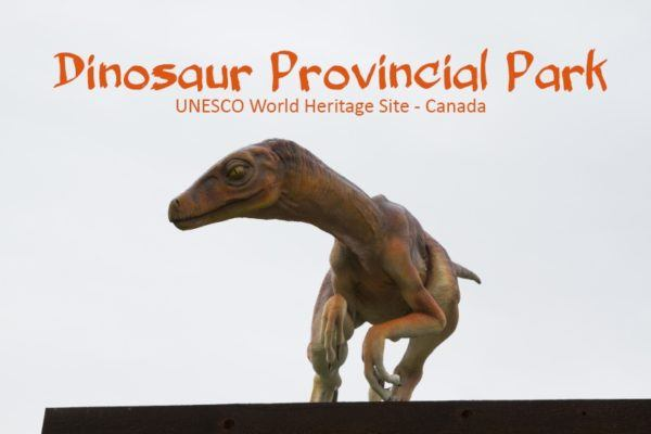 Dinosaur replica at the Dinosaur Provincial Park in Canada.