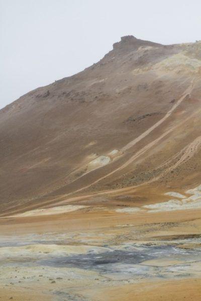 Otherworldly landscape at Námafjall.