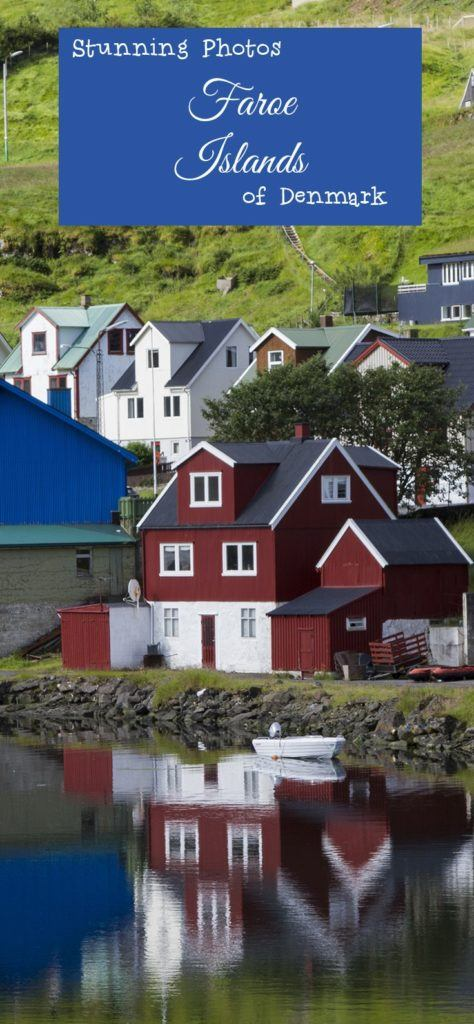 Traditional red and white trim building on the Faroe Islands.