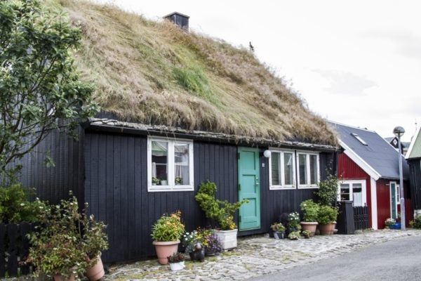 Old sod covered home.