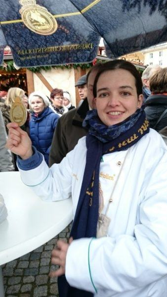 A coin buys you a piece of the world's largest stollen.