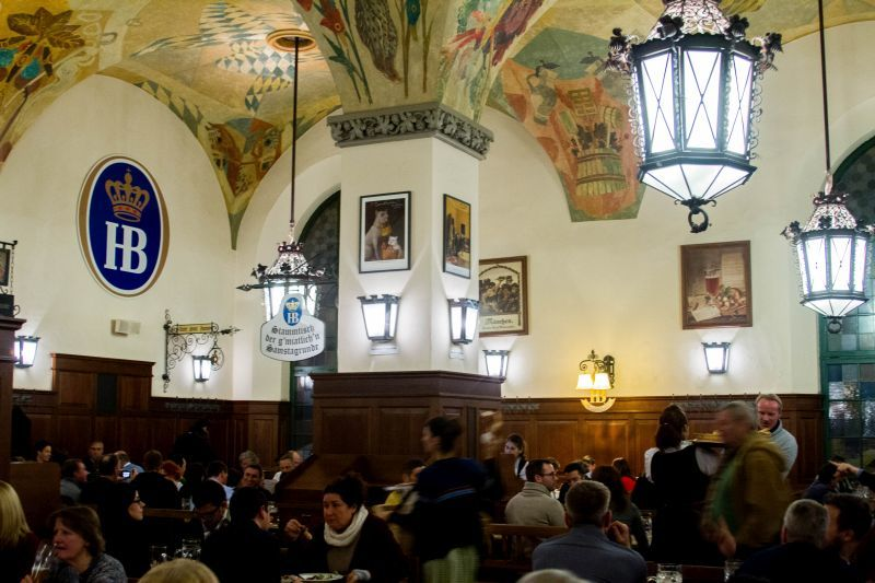 The huge Hofbräuhaus in Munich is the most famous tavern in the world.
