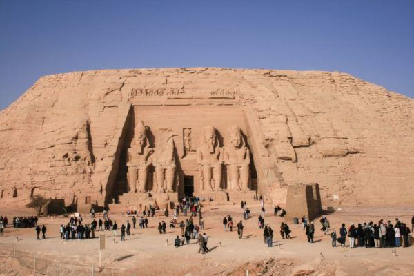 Temple at Abu Simbel, Egypt.