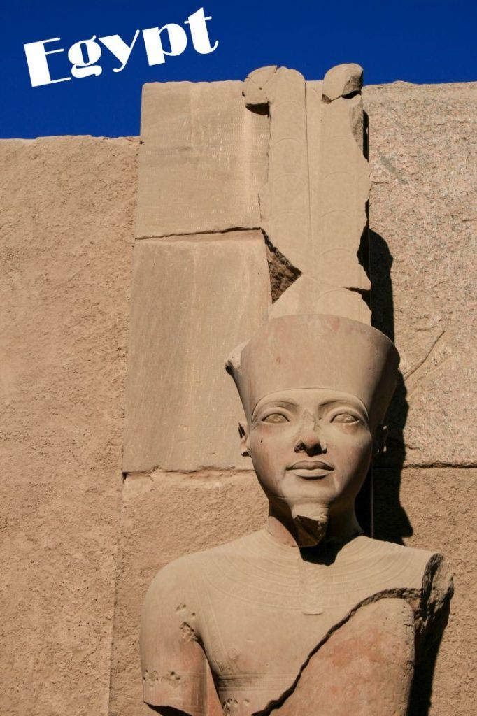 Statue in the Valley of the Kings, Egypt.