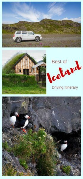 One Week driving Itinerary, Iceland.