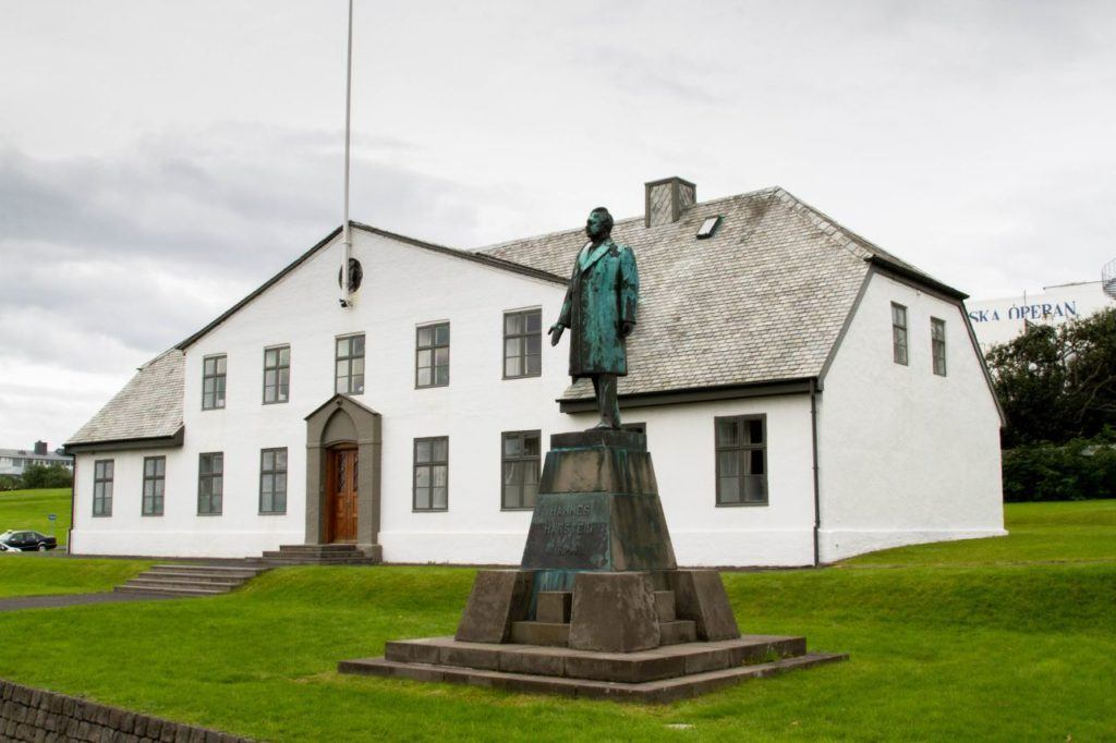 """The famous """"white-house"""" in Reykjavik where Reagan and Gorbachev met and planned the end of the cold war."""