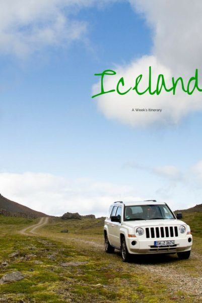 One Week Driving Itinerary Iceland.