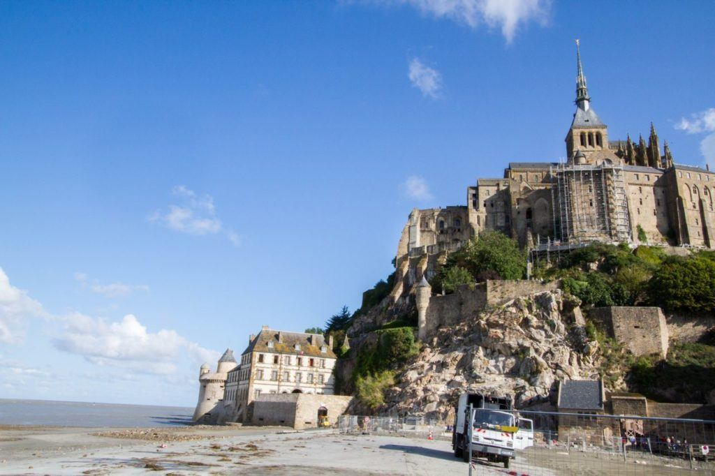 The towering Mont St. Michel.