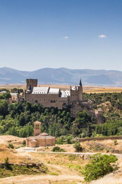 The Alcazar of Segovia viewed from afar.