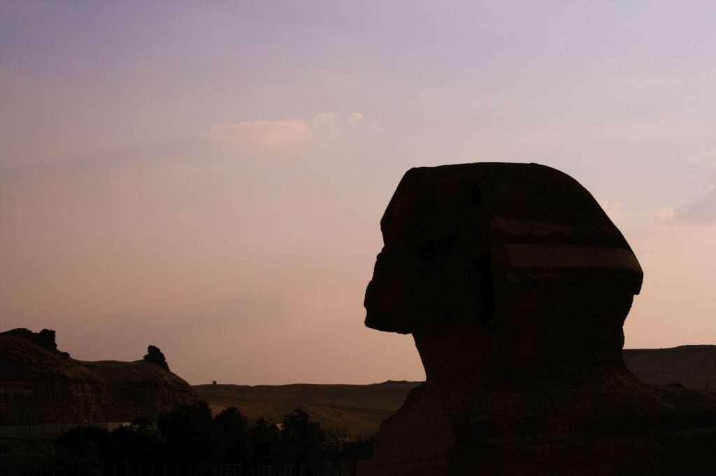 Silhouette of Sphinx's head.